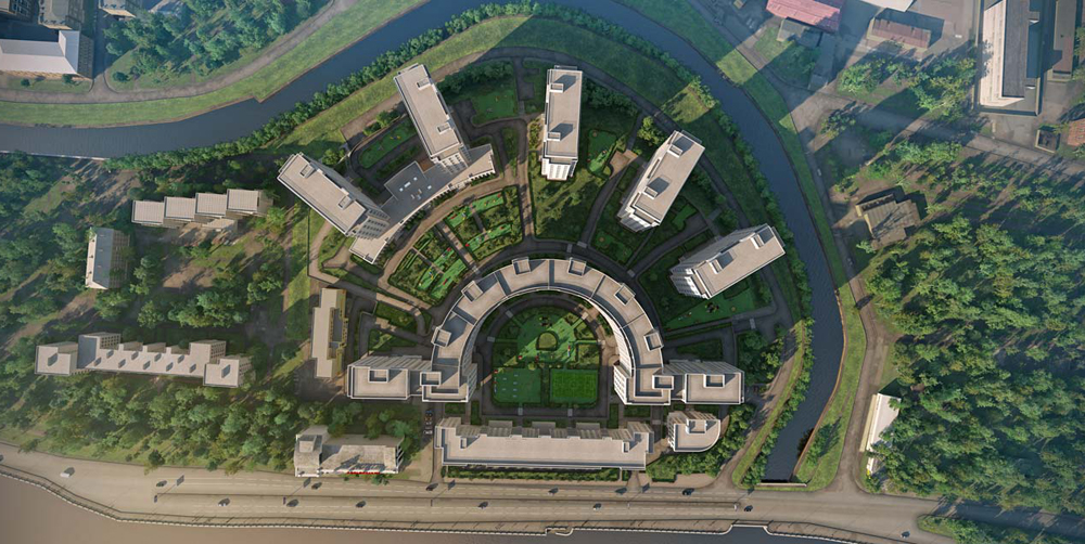 Завершено строительство жилой части Riverside