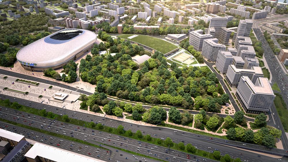 В проекте «ВТБ Арена парк» анонсирован старт продаж апартаментов второго корпуса