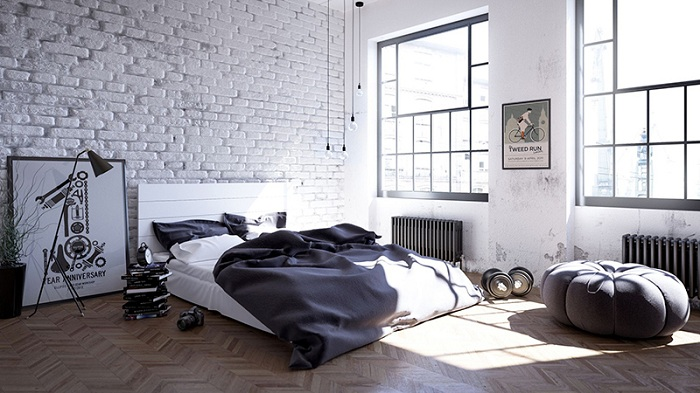 Спальня в лофт-стиле, почему нет