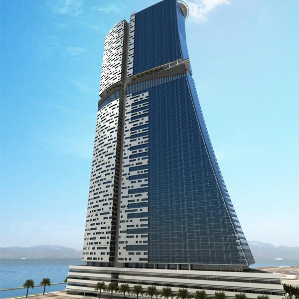 Своей формой GALA TOWER напоминает морскую волну