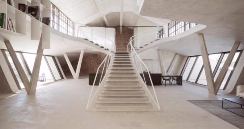 Воздушное пространство бетонного Panzerhalle