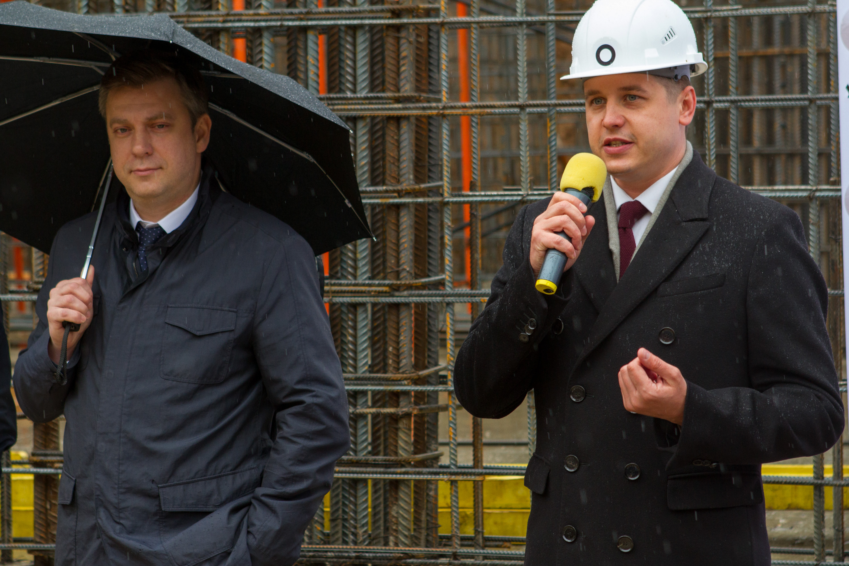 S.A. Ricci и АО МПФК «УКРРОСМЕТАЛЛ» провели торжественную церемонию заливки бетона в комплексе апартаментов «Отражение»
