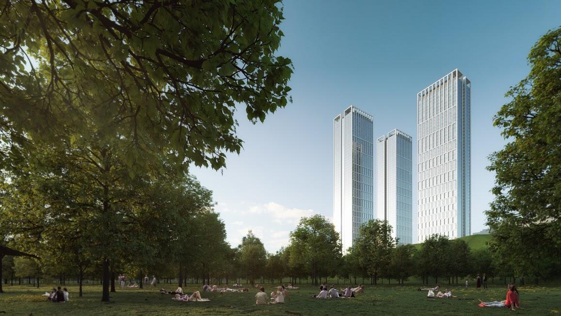 Высотный комплекс бизнес-класса «Небо» на Мичуринском
