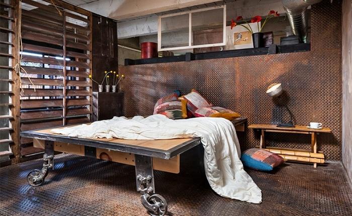 Спальня в лофт-стиле, наконец