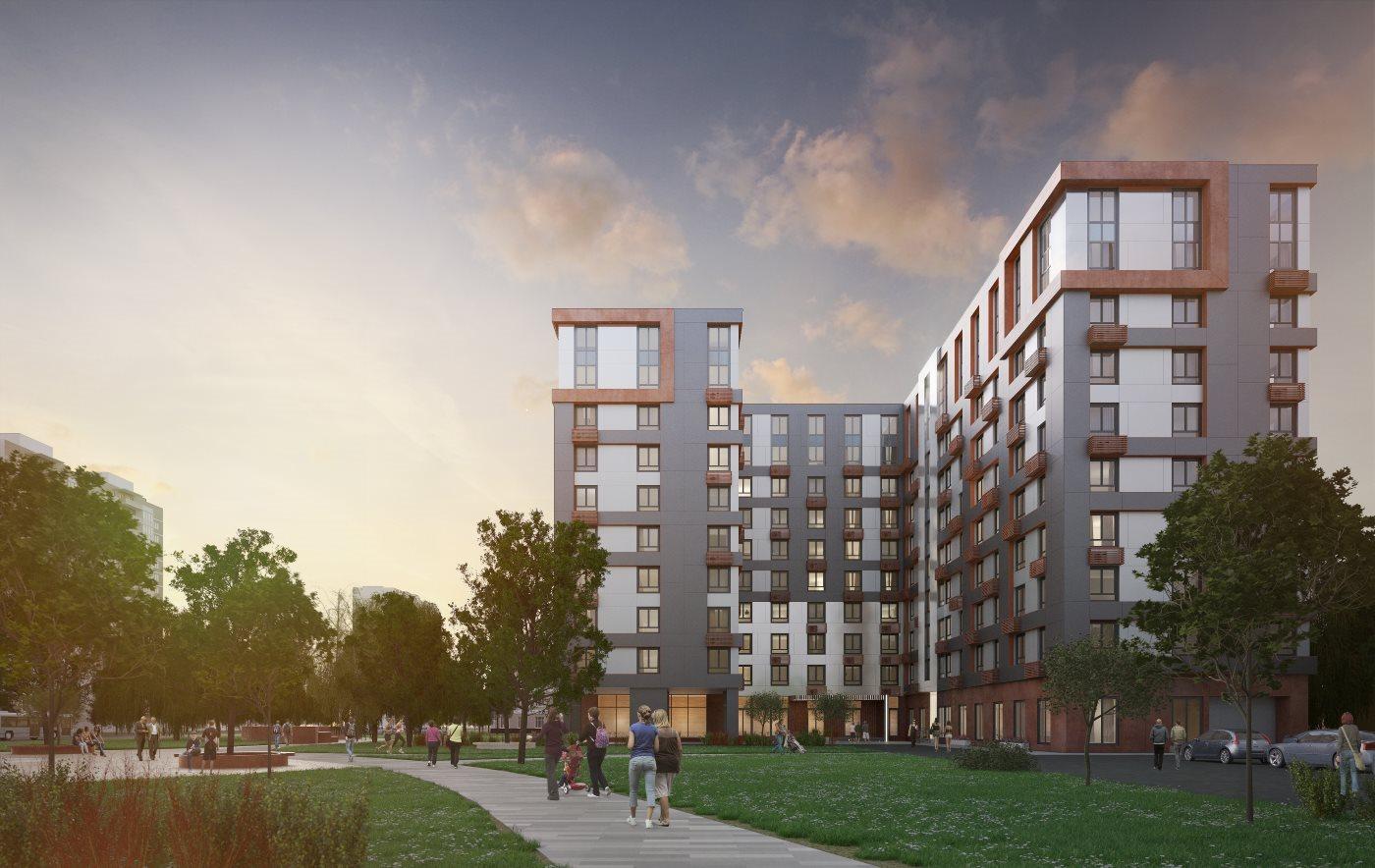 В комплексе апартаментов «Отражение» начаты работы по возведению первого этажа