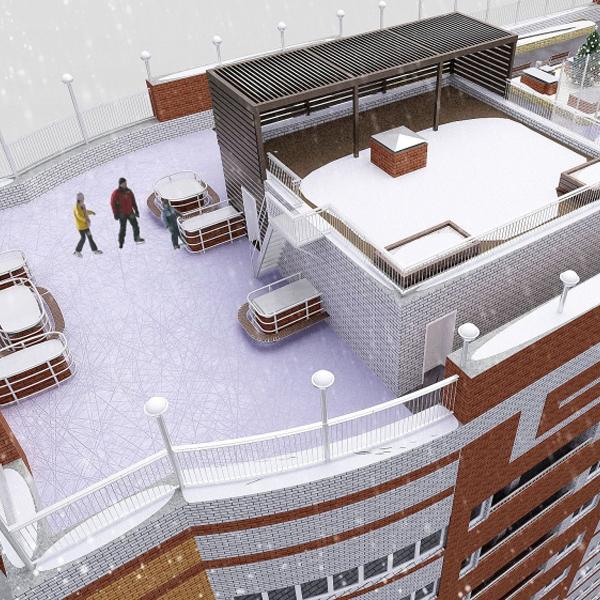 В Барнауле появится дом с ледовым катком на крыше