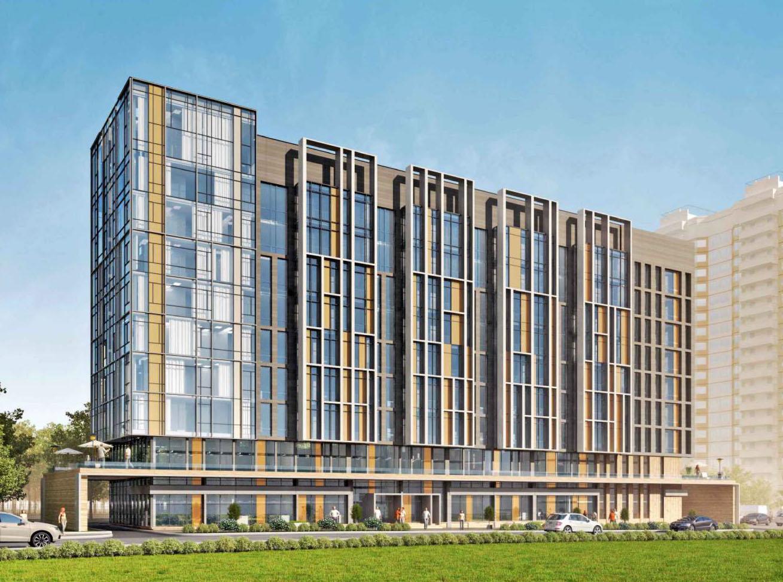 Комплекс на Левобережной улице будет называться «Янтарь-Apartments»