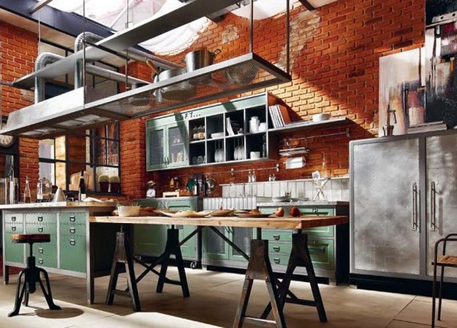Кухня в стиле лофт: освежаем интерьер