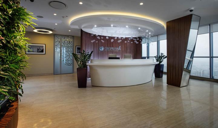 Офис в стиле лофт: Сбербанк, VIP-зона, Санкт-Петербург