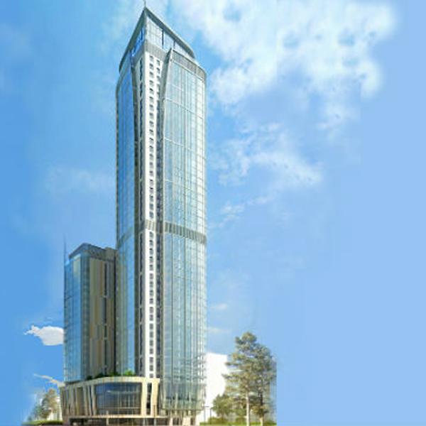 Вместо обычных квартир в небоскрёбе будут апартаменты