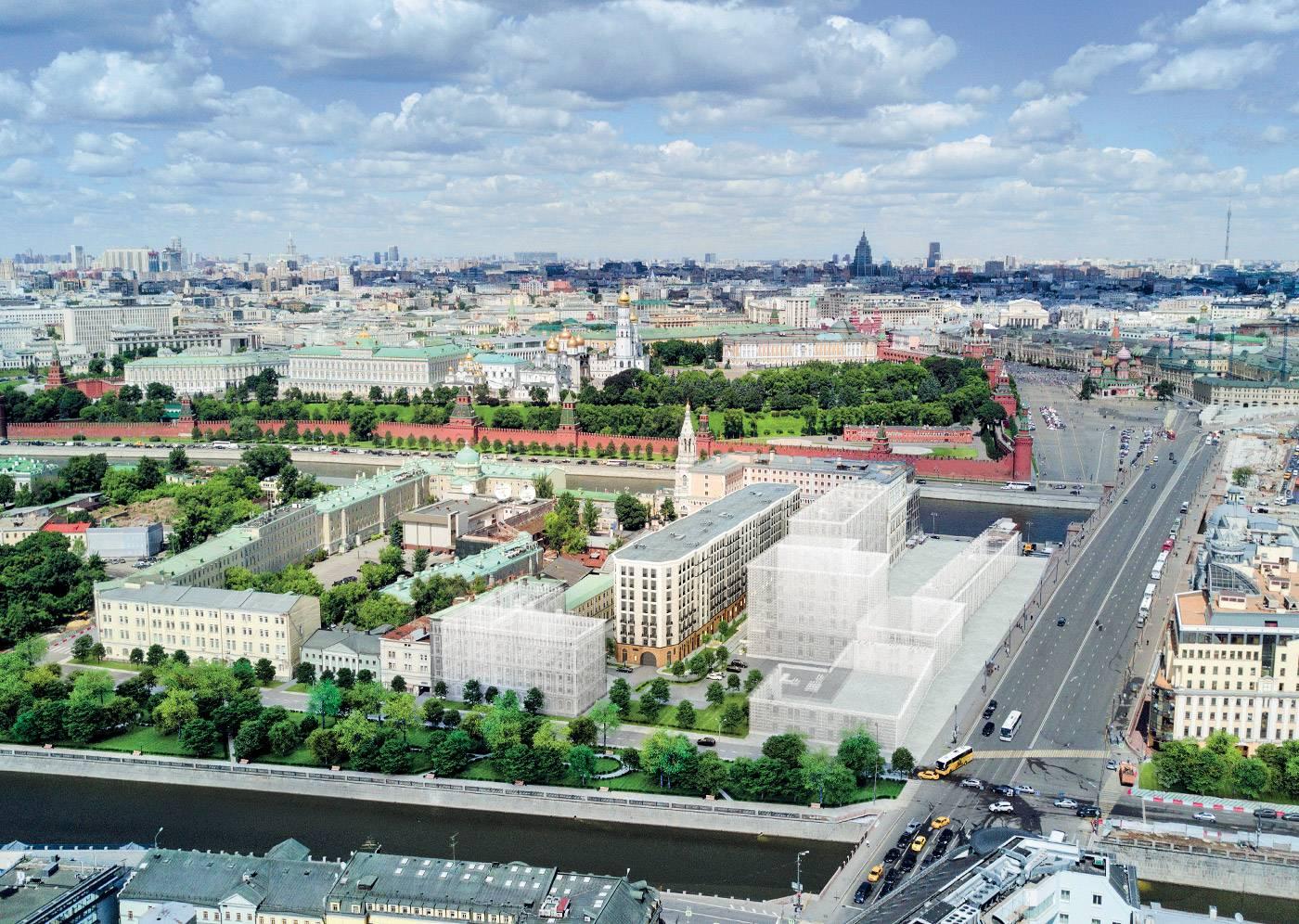 Кремль с видом на апартаменты